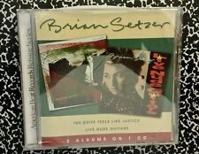 BRIAN SETZER THE KNIFE FEELS LIKE JUSTICE CD STRAY CATS ROCKABILLY 80's