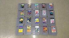 Nintendo NES Game Lot of 20 Time Lord, Arch Rivals, Blades of Steel, Golf