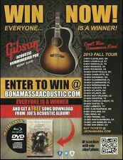 Joe Bonamassa 2013 Tour Dates Gibson Hummingbird Acoustic Guitar 8 x 11 ad print