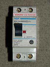 Hager 63A 30mA 230v RCD to BS4293