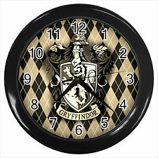 NEW* HOT HARRY POTTER GRYFFINDOR HOGWARTS SCHOOL Black Wall Clock Decor Gift D03