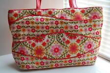 Vera Bradley Folkloric Tote Making Waves Floral Shoulder Purse Bag Retired EUC