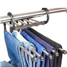 Durable Hanging Wardrobe Clothes Towel Organizer Coat Hanger Jeans Holder Rack