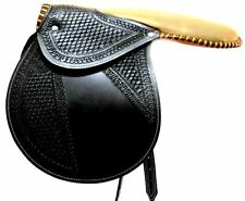 D. A. Brand Fancy Black Leather Racing Exercise/ Training Saddle Horse Tack