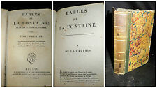 Fables de la Fontaine  suivies d'adonis, poeme - tome 1er Paris 1799