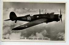 (Lh089-183) Real Photo of Vickers Wellesley Bomber c1940 Unused EX 38A-36