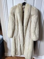 silver fox fur coat Size 12/14