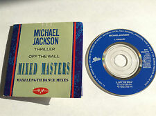 """THRILLER OFF THE WALL - 2 TRK MIXED MASTERS 3"""" MINI RAREST MICHAEL JACKSON CD ?"""