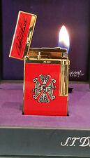 ST DUPONT LIMITED EDITION OPUS X LINE 2 LINGE 2 GOLD LIGHTER NEW RED LACQUER