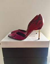 Kurt Geiger London Beaumont cuero impreso Rosa Tribunal Zapatos Talla 5 38 RRP £ 250