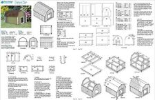 Large Dog House Plans Gambrel / Barn Roof Style 90304B, Pet Size up to 150 lbs