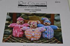 Oat Couture Knitting Pattern Cozy Clowns for Baby 9""