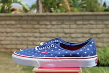 VANS CLASSIC AUTHENTIC SZ 8 STUDDED STARS RED BLUE OFF THE WALL VN 018BH0F
