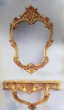 Wandspiegel mit Konsole Gold Spiegel 50x35 BAROCK  Wandspiegel Ablage C444