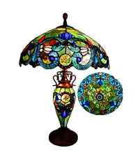 Tiffany Style Stained Glass Table Lamp Classic Victorian Accent Reading Light