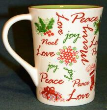 STARBUCKS Oversized CHRIStMAS Coffee Mug: Merry Peace, Love, Joy, HO HO HO