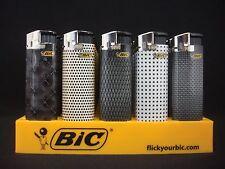 6 Bic Elegance Gentlemen's Electronic Lighters Regular Disposable (1 Per Design)
