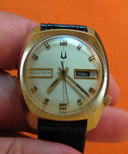 SERVICED VINTAGE 219 ACCUTRON GOLD PLATE TUNING FORK MENS WATCH N7