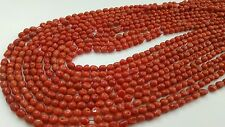 Natural italian salmon red coral baroque beads  5 mm  threads, 45cms.