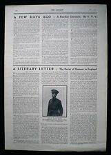 PATRICK MACGILL IRISH POET NOVELIST AUTHOR FIRST WORLD WAR 1pp ARTICLE 1915