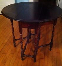 WILLIAM & MARY Antique Mahogany Drop Leaf Gateleg Table Console End Side Dining