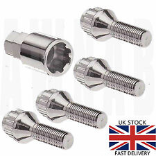 Set of Alloy wheel locking bolts. M12 x 1.5 Taper 17mm Hex, lock nuts lugs