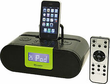 Roadstar HRA-500IP gr iPod iPhone iPad Docking Station with Radio and