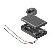 S694 - 2 Stück Batteriehalter 3x Micro AAA Batteriefach geschlossen mit Schalter