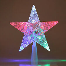 Party Decoration Christmas star tree toppers led star lights US stock