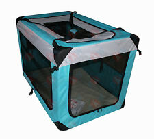 91CM Pet Dog Soft Crate Portable Carrier Travel Cage Kennel Folding XXLARGE Aqua