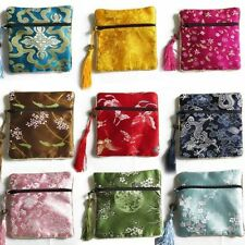 Wholesale10pcs Chinese Handmade Vintage Silk Jewelry Pouches &Gift Purse Bag