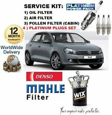 FOR VW GOLF 2.0 TSi GTi MK6 2009- SERVICE KIT OIL AIR POLLEN FILTER & PLUGS