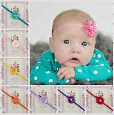 17PCS/lot Toddler Baby Girls Newborn Flowers Headbands Elastic Hairband Hair bow
