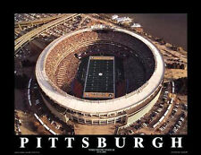 Pittsburgh Steelers THREE RIVERS STADIUM Commemorative Aerial Poster Print