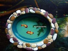Miniature Koi Pond 52003 Oval Light Edge  Fairy Garden Dollhouse Terrarium
