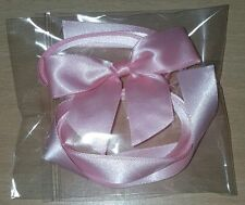 cake ribbon and bow - baby pink