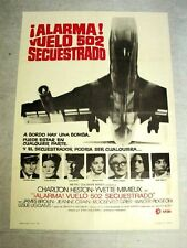 SKYJACKED Original JUMBO JET AIRPLANE Movie Poster JAMES BROLIN WALTER PIDGEON