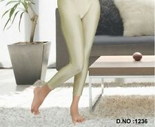 Neon Candy Leggings Skin Fit Tights Pants Fits 24 to 34 Beige Womens  Footless