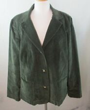 LL BEAN 18 20 2X WOMENS PLUS SIZE HEAVY COTTON LINED WINTER BLAZER JACKET COAT