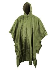 US Style Waterproof Nylon Green Poncho Military Camping Festivals Army Basha