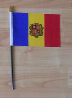 Andorra Country Hand Flag - small