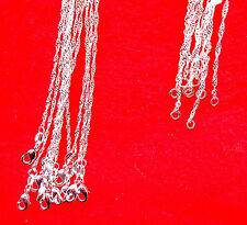 "10PCS 22"" Wholesale Jewelry 925 Silver Plated""Water Wave"" Chain Necklace Pendant"