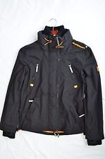 Superdry Men's The Wind Attacker Jacket Coat-Black &Orange Large