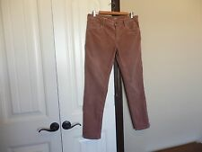 Ann Taylor Loft Dusty Rose Pin Cord Relaxed Skinny Corduroy Stretch Jeans SZ 6