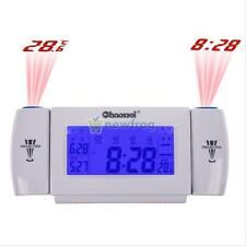 Electronic Digital Dual Projection Alarm Clock Time Snooze Temperature Display