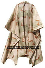 New Deluxe G.I. Type Military RIPSTOP HOODED RAIN PONCHO 3 Color Desert NEW