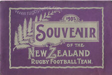 Souvenir of the New Zealand Rugby Football Team 1905 BOOKLET - published 1981