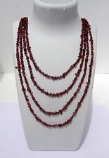 245 Cts Natural Genuine Natural Pink Tourmaline Chip Nugget Necklace Beads 100""