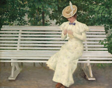 Fischer Paul Lady On A Bench Print 11 x 14    #4808