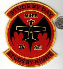 US Marine Corps Naval Aviation Studs By Day Studs By Night MAFB Squadron Patch